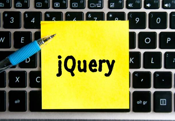 Word jquery method written on a yellow note